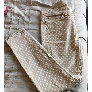 Current Elliott Polka Dot Skinny Jeans
